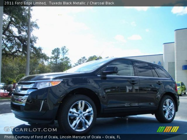 tuxedo black metallic 2011 ford edge limited charcoal black interior. Black Bedroom Furniture Sets. Home Design Ideas