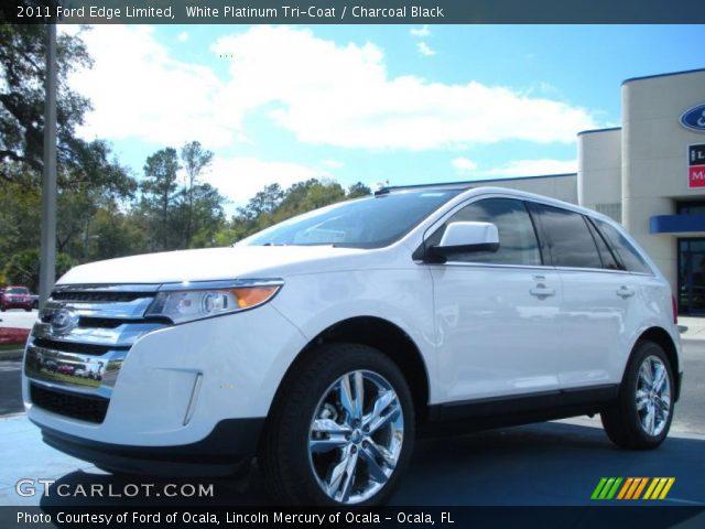 white platinum tri coat 2011 ford edge limited. Black Bedroom Furniture Sets. Home Design Ideas