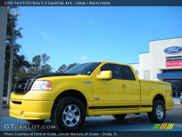 2005 Ford F150 Boss 5.4 SuperCab 4x4 in Yellow