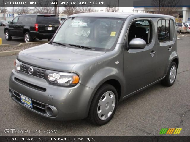 steel gray pearl metallic 2010 nissan cube 1 8 s black interior vehicle. Black Bedroom Furniture Sets. Home Design Ideas