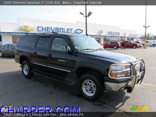 2006 chevrolet suburban lt 2500 4x4 in black click to see large photo
