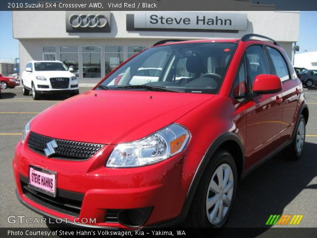 2010 Suzuki SX4 Crossover AWD in Vivid Red