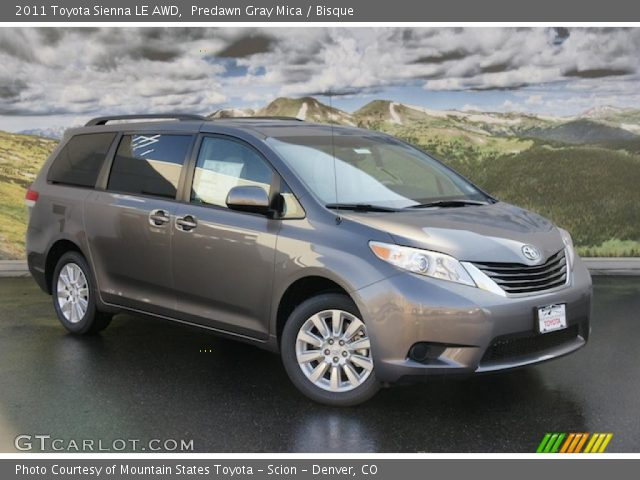 2011 Toyota Sienna LE AWD in Predawn Gray Mica. Click to see large ...