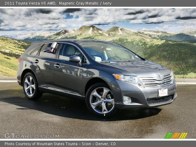 magnetic gray metallic 2011 toyota venza v6 awd ivory. Black Bedroom Furniture Sets. Home Design Ideas