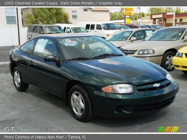 dark green metallic 2003 chevrolet cavalier coupe graphite gray interior gtcarlot com vehicle archive 46337376 gtcarlot com
