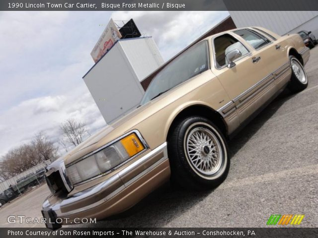 bisque frost metallic 1990 lincoln town car cartier bisque interior vehicle. Black Bedroom Furniture Sets. Home Design Ideas