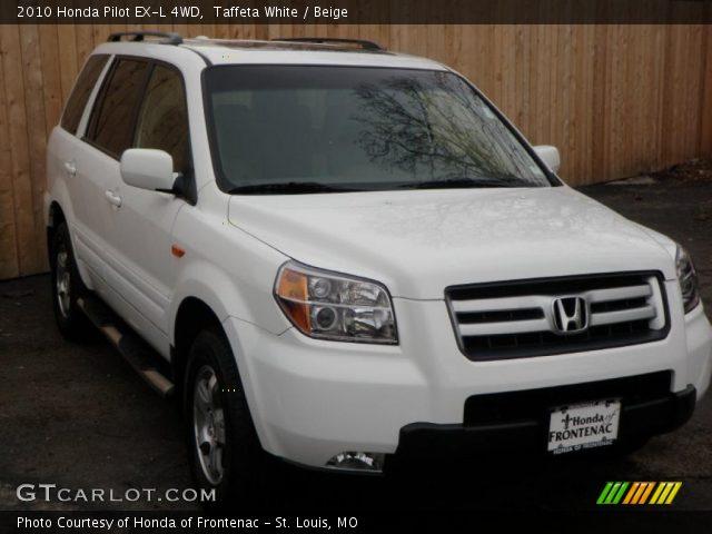 Taffeta White - 2010 Honda Pilot LX 4WD - Gray Interior ...   2010 Honda Pilot White