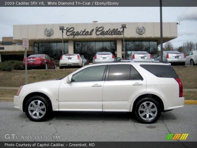 2009 Cadillac SRX V8 in White Diamond Tri-Coat