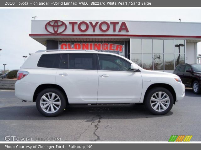 2010 Toyota Highlander Hybrid Limited 4WD in Blizzard White Pearl