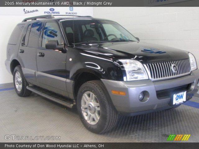 Black 2005 Mercury Mountaineer V6 Awd Midnight Grey Interior Vehicle