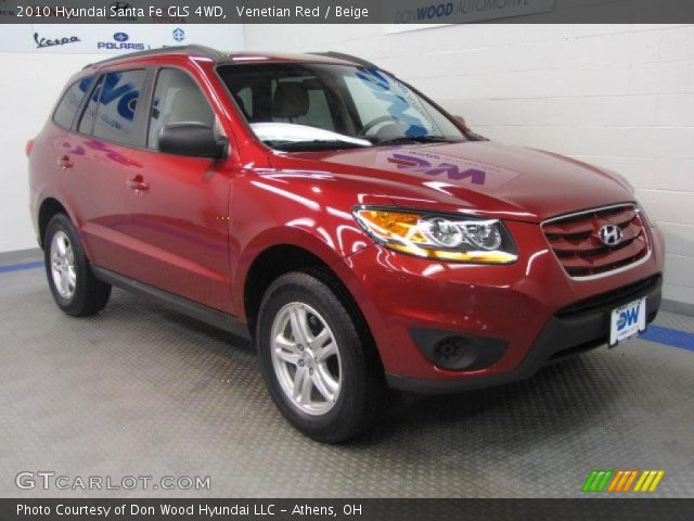 venetian red 2010 hyundai santa fe gls 4wd beige interior vehicle archive. Black Bedroom Furniture Sets. Home Design Ideas