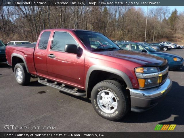 deep ruby red metallic 2007 chevrolet colorado lt. Black Bedroom Furniture Sets. Home Design Ideas