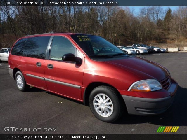 2000 ford windstar lx in toreador red metallic click to see large