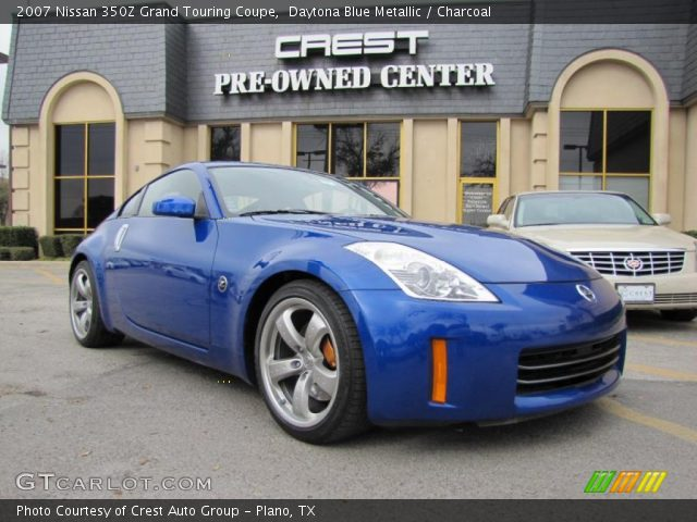 daytona blue metallic 2007 nissan 350z grand touring coupe charcoal interior. Black Bedroom Furniture Sets. Home Design Ideas