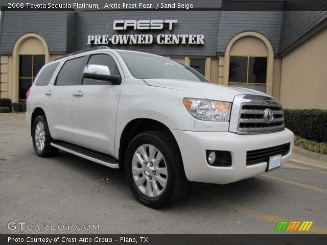 arctic frost pearl 2008 toyota sequoia platinum sand. Black Bedroom Furniture Sets. Home Design Ideas
