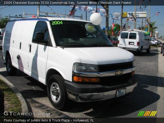 summit white 2004 chevrolet express 3500 commercial van. Black Bedroom Furniture Sets. Home Design Ideas