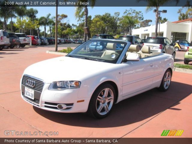 ibis white 2008 audi a4 2 0t cabriolet beige interior. Black Bedroom Furniture Sets. Home Design Ideas