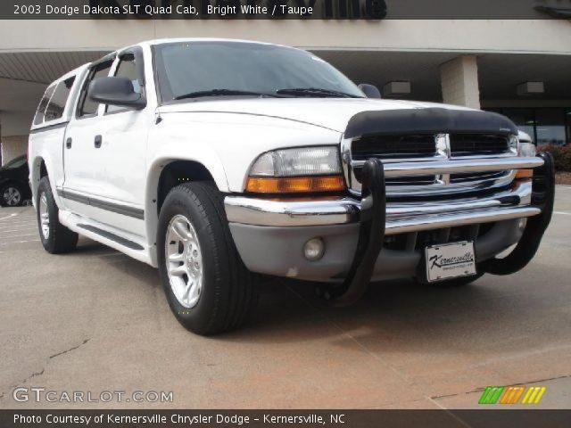 bright white 2003 dodge dakota slt quad cab taupe interior vehicle archive. Black Bedroom Furniture Sets. Home Design Ideas