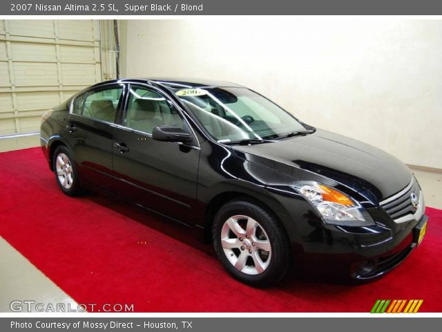 super black 2007 nissan altima 2 5 sl blond interior vehicle archive 46500024. Black Bedroom Furniture Sets. Home Design Ideas