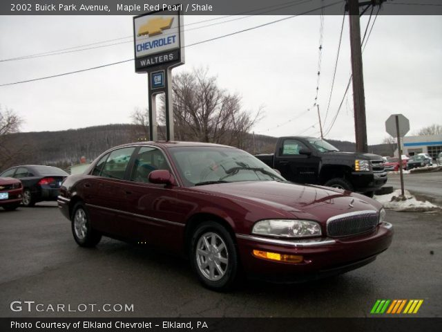 maple red pearl 2002 buick park avenue shale interior. Black Bedroom Furniture Sets. Home Design Ideas