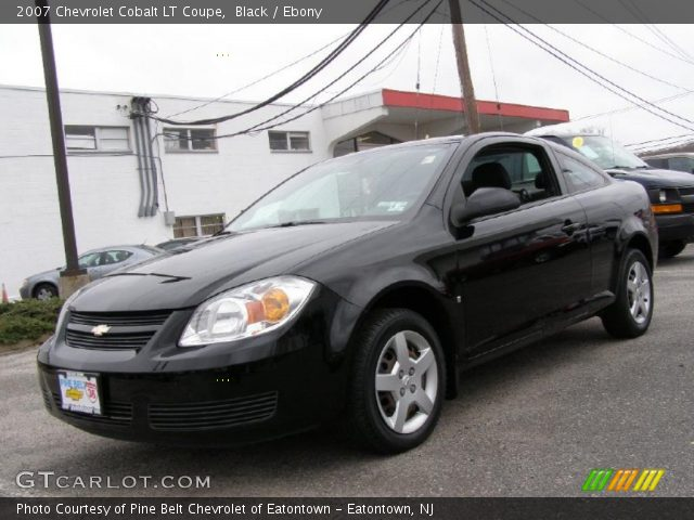 black 2007 chevrolet cobalt lt coupe ebony interior. Black Bedroom Furniture Sets. Home Design Ideas