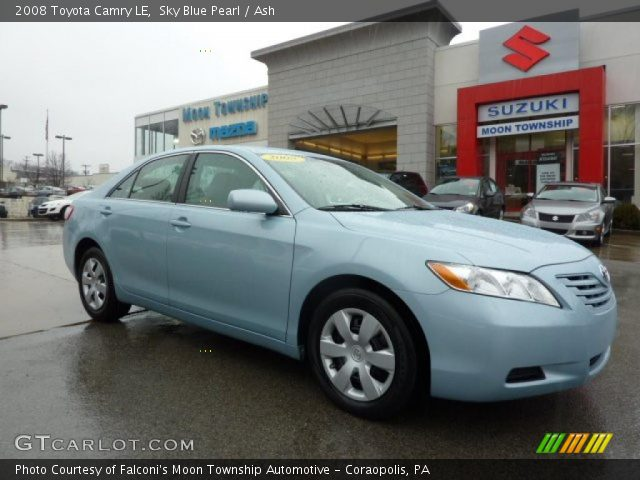 sky blue pearl 2008 toyota camry le ash interior vehicle archive 46500113. Black Bedroom Furniture Sets. Home Design Ideas