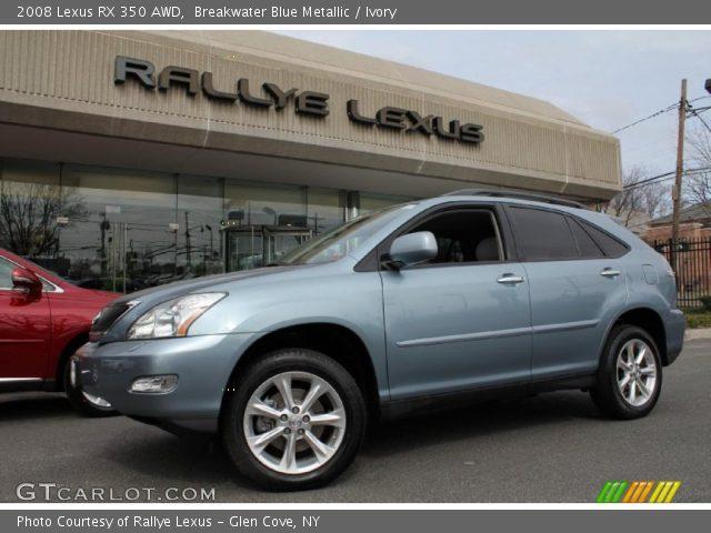 breakwater blue metallic 2008 lexus rx 350 awd ivory interior vehicle. Black Bedroom Furniture Sets. Home Design Ideas