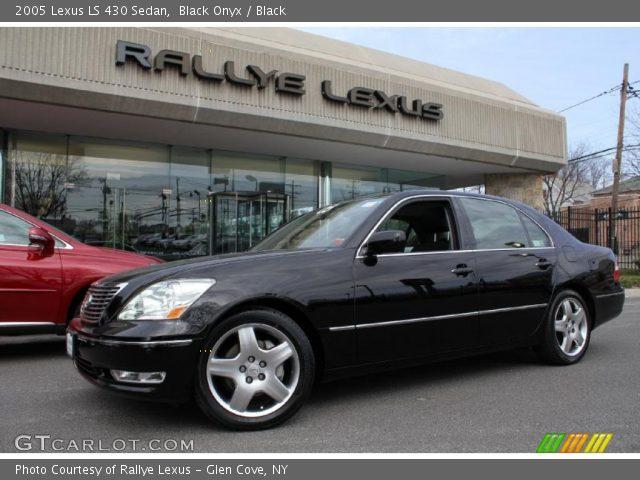 black onyx 2005 lexus ls 430 sedan black interior. Black Bedroom Furniture Sets. Home Design Ideas