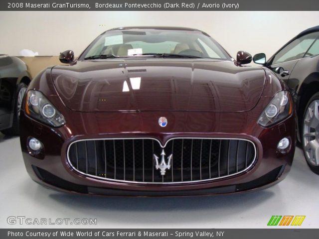 Bordeaux pontevecchio dark red 2008 maserati - Maserati granturismo red interior ...