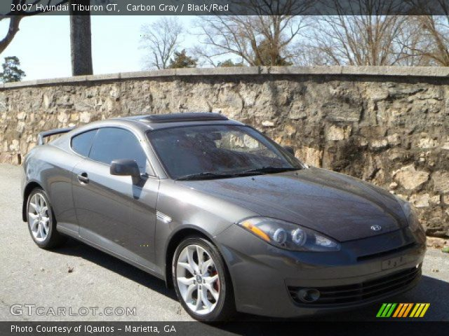 carbon gray 2007 hyundai tiburon gt black red interior. Black Bedroom Furniture Sets. Home Design Ideas