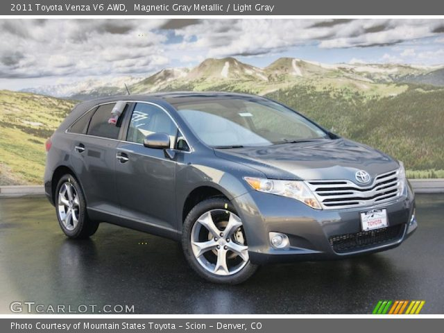 magnetic gray metallic 2011 toyota venza v6 awd light. Black Bedroom Furniture Sets. Home Design Ideas