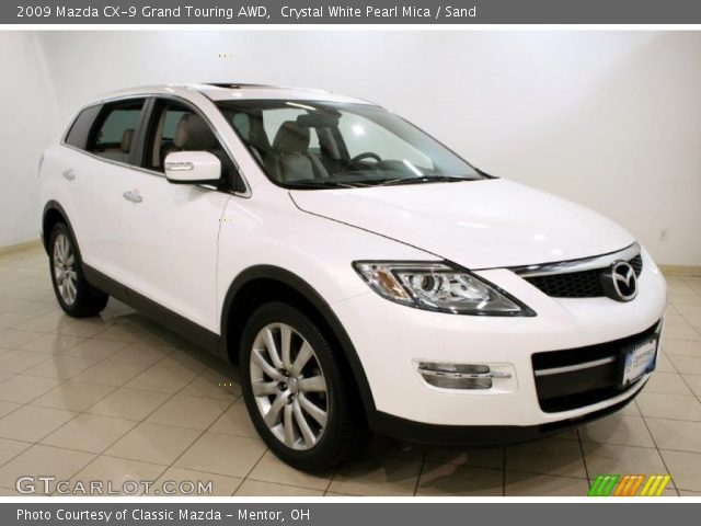 crystal white pearl mica 2009 mazda cx 9 grand touring. Black Bedroom Furniture Sets. Home Design Ideas