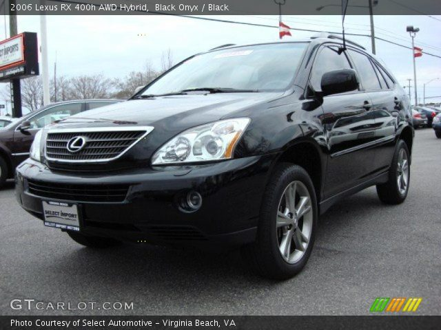 black onyx 2006 lexus rx 400h awd hybrid black. Black Bedroom Furniture Sets. Home Design Ideas