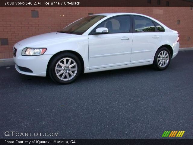 ice white 2008 volvo s40 off black interior vehicle archive 46631562. Black Bedroom Furniture Sets. Home Design Ideas