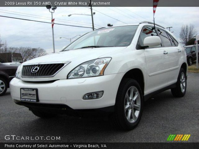 crystal white mica 2009 lexus rx 350 awd parchment interior vehicle archive. Black Bedroom Furniture Sets. Home Design Ideas