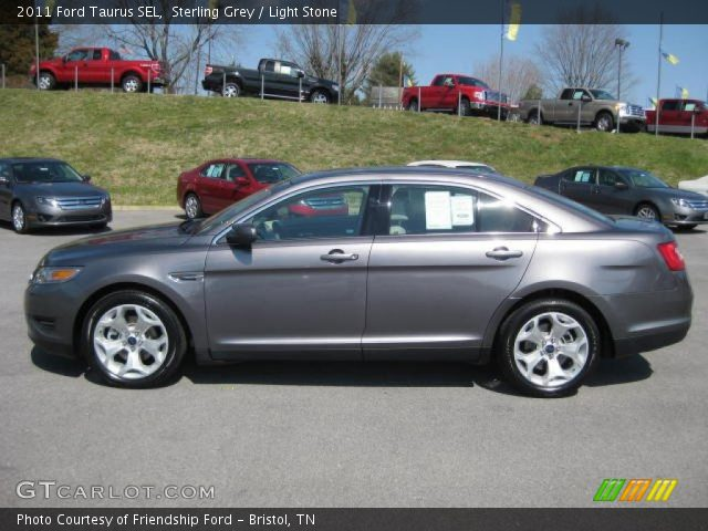 sterling grey 2011 ford taurus sel light stone interior vehicle archive. Black Bedroom Furniture Sets. Home Design Ideas