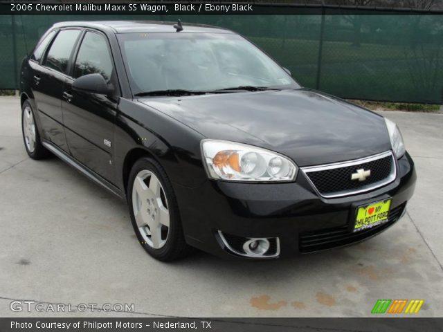 black 2006 chevrolet malibu maxx ss wagon ebony black interior vehicle. Black Bedroom Furniture Sets. Home Design Ideas