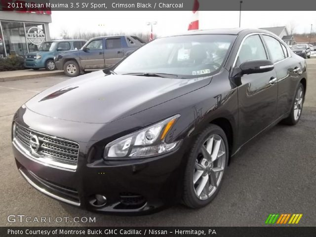 crimson black 2011 nissan maxima 3 5 sv sport charcoal interior vehicle. Black Bedroom Furniture Sets. Home Design Ideas