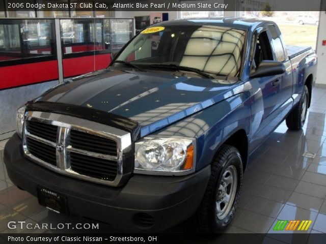 atlantic blue pearl 2006 dodge dakota st club cab medium slate gray interior. Black Bedroom Furniture Sets. Home Design Ideas