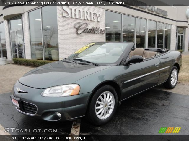 Onyx Green Pearl 2002 Chrysler Sebring LXi Convertible with Sandstone ...