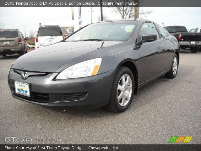 graphite pearl 2005 honda accord lx v6 special edition coupe gray interior. Black Bedroom Furniture Sets. Home Design Ideas