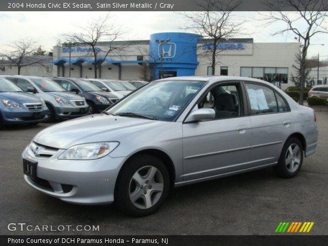 Satin silver metallic 2004 honda civic ex sedan gray interior vehicle for 2004 honda civic ex coupe interior