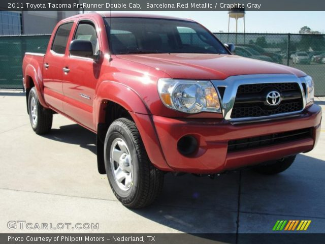 Barcelona red metallic 2011 toyota tacoma prerunner double cab graphite gray interior - Cab in barcelona ...