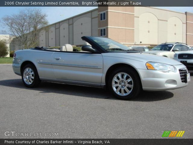 Bright Silver Metallic 2006 Chrysler Sebring Limited Convertible with ...