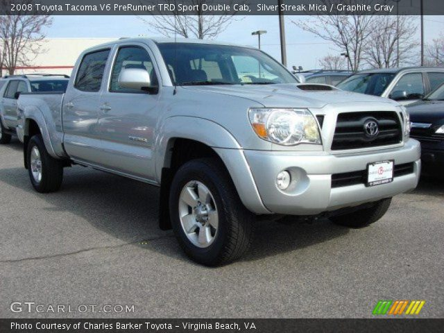 silver streak mica 2008 toyota tacoma v6 prerunner trd sport double cab graphite gray. Black Bedroom Furniture Sets. Home Design Ideas