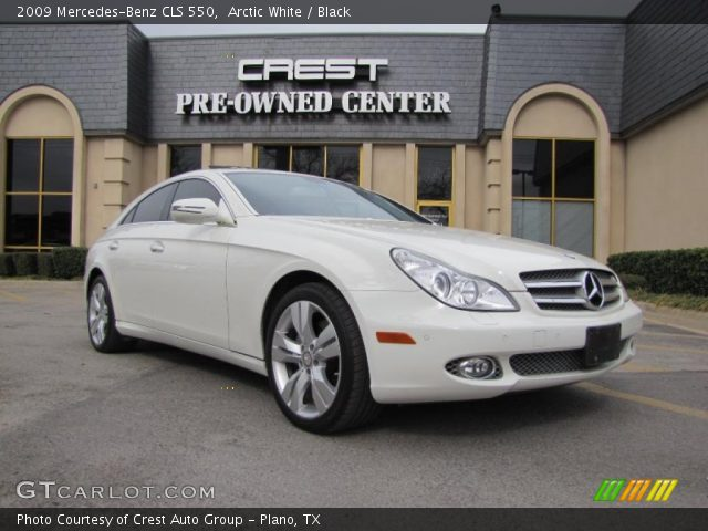 arctic white 2009 mercedes benz cls 550 black interior. Black Bedroom Furniture Sets. Home Design Ideas