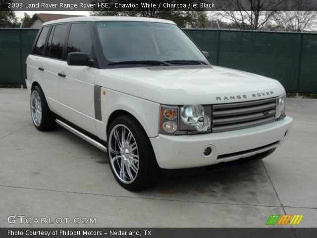 Chawton White 2003 Land Rover Range Rover Hse Charcoal Jet Black Interior