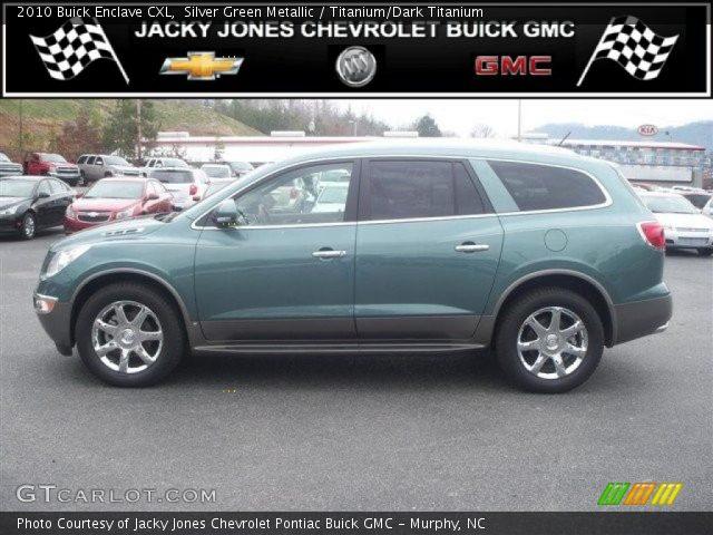 Silver Green Metallic 2010 Buick Enclave Cxl Titanium Dark Titanium Interior