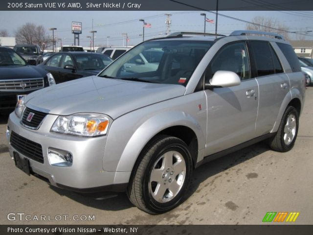 silver nickel 2006 saturn vue v6 awd gray interior. Black Bedroom Furniture Sets. Home Design Ideas