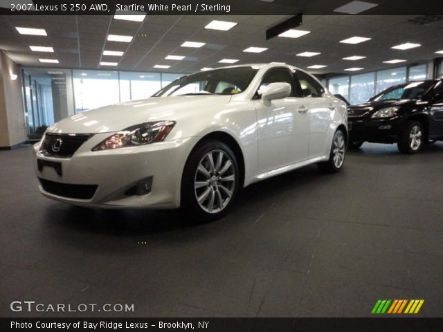 starfire white pearl 2007 lexus is 250 awd sterling interior vehicle. Black Bedroom Furniture Sets. Home Design Ideas